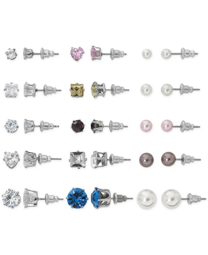 Macy's Mega Box Earring Stud Set & Reviews - Earrings - Jewelry & Watches - Macy's