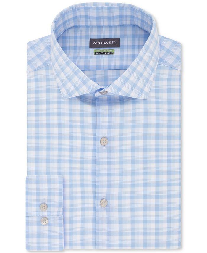 Van Heusen - Men's Slim-Fit Non-Iron Stretch Plaid Dress Shirt