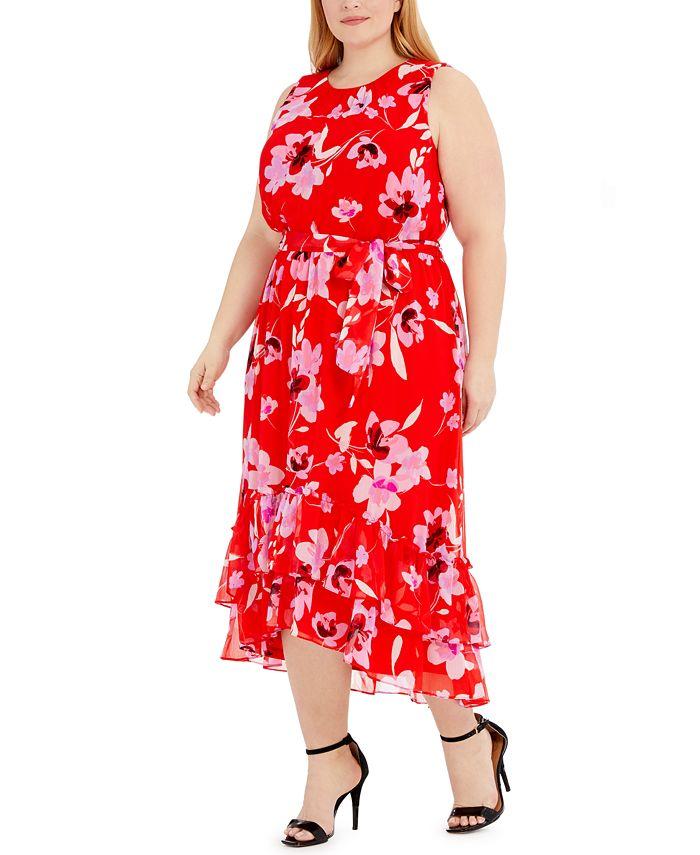 Calvin Klein - Plus Size Sleeveless Maxi Dress