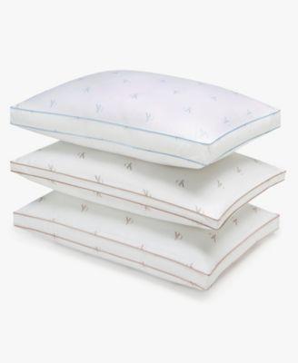 Monogram Logo Extra Firm Support Cotton Pillow, Standard/Queen