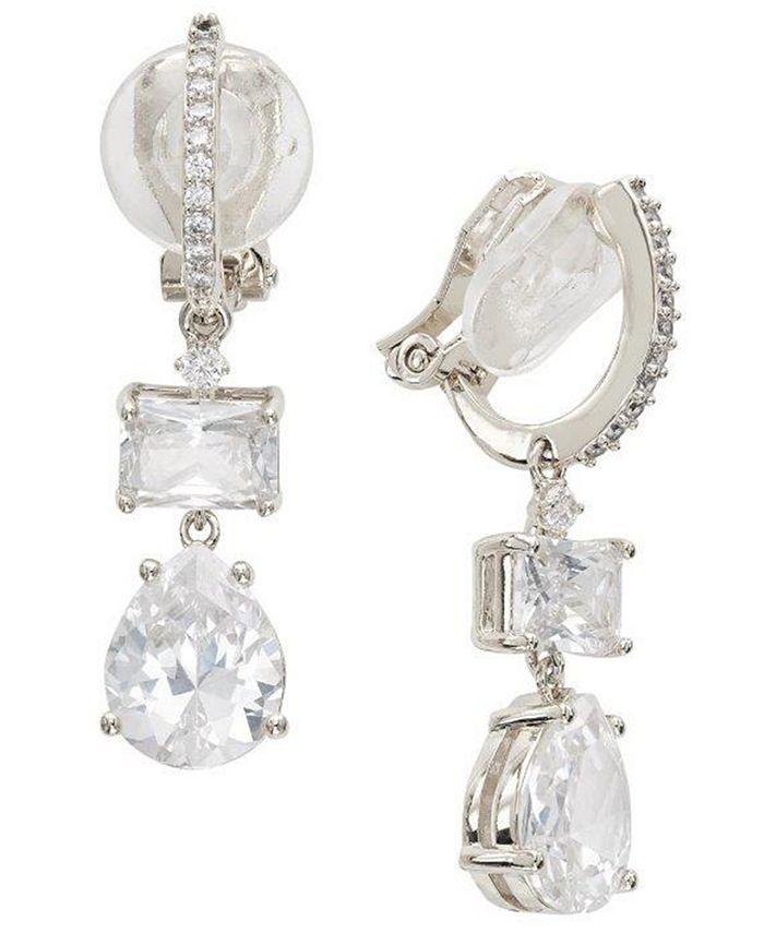 Eliot Danori - Crystal Drop Clip-On Earrings