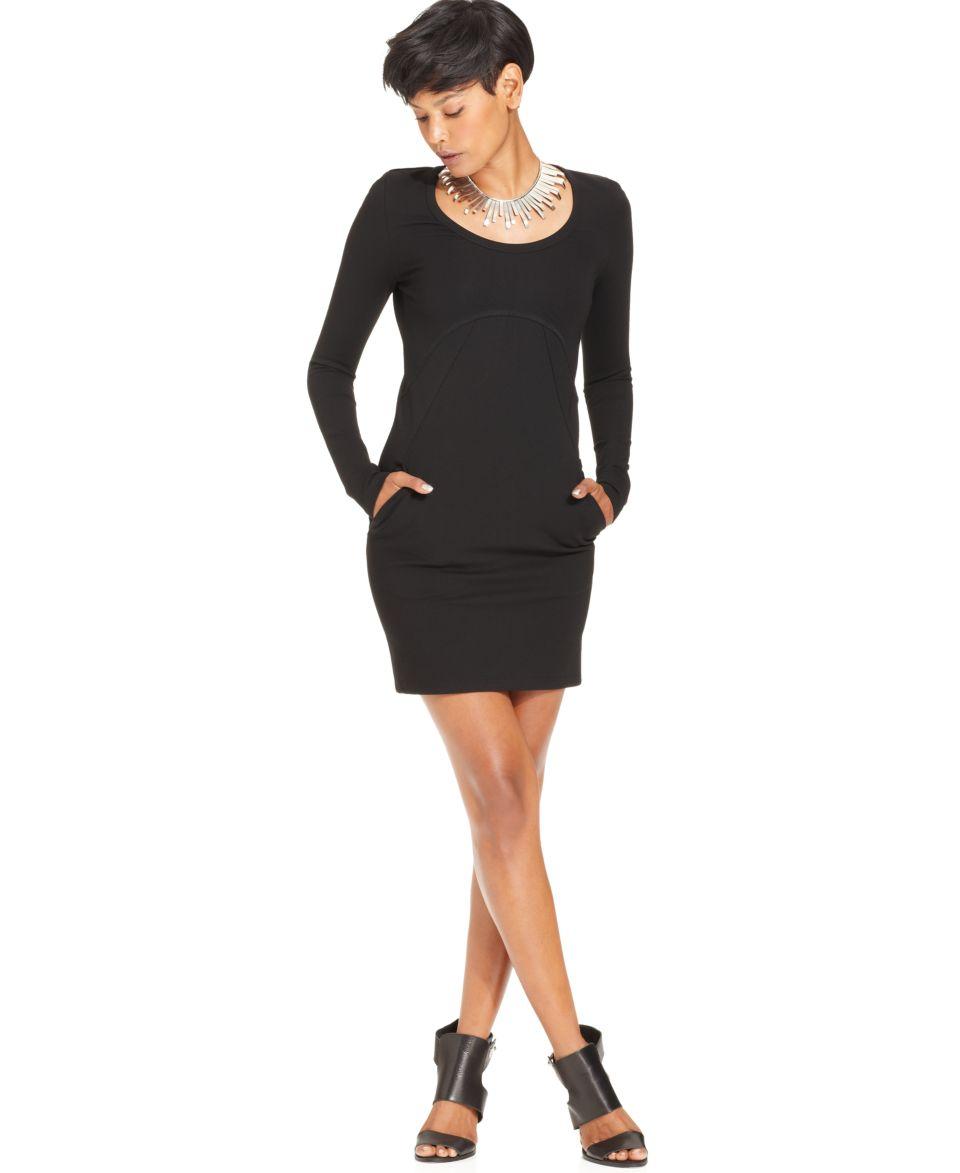 W118 by Walter Baker Dress, Brynn Long Sleeve Scoop Neck Mini   Dresses   Women