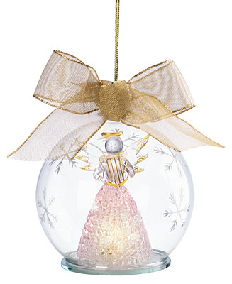 Lenox Exclusive Light Up Angel Wonder Ball Ornament Macy S
