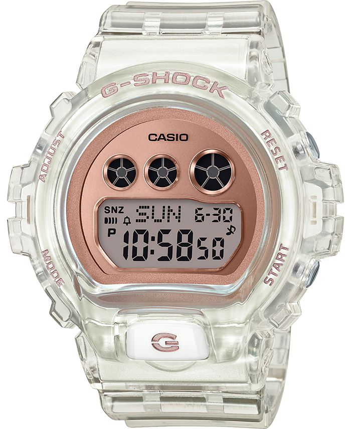 G-Shock - Women's Digital Clear Resin Strap Watch 46mm