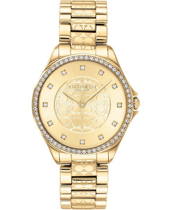 COACH Women's Astor Gold-Tone Stainless Steel Bracelet Watch 31mm
