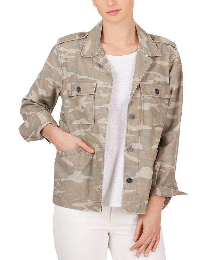 Adyson Parker - Cotton Camo-Print Boyfriend Jacket