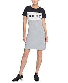 DKNY Sport Colorblocked Logo T-Shirt Dress
