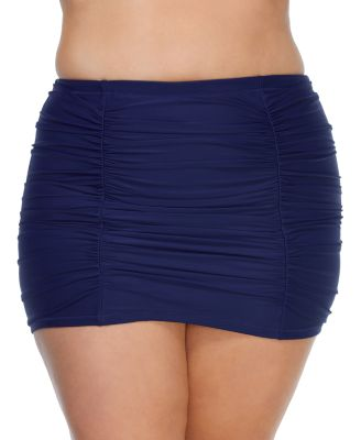 Trendy Plus Size Juniors' Solid Costa Swim Skirt
