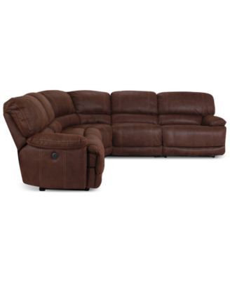 jedd 5 piece fabric power reclining sectional sofa 2 With jedd 5 piece fabric reclining sectional sofa