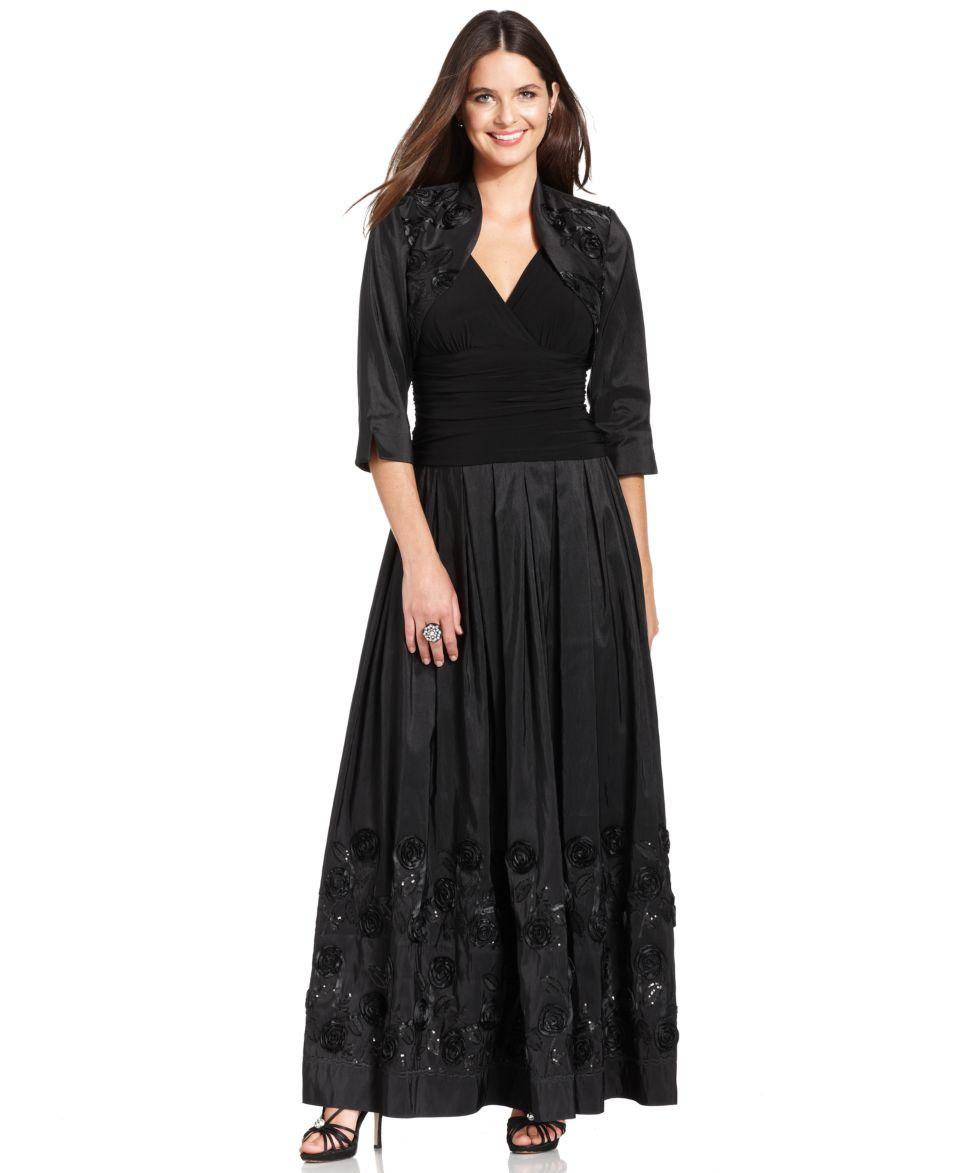 Lauren Ralph Lauren Long Sleeve Lace Sequin Gown   Dresses   Women