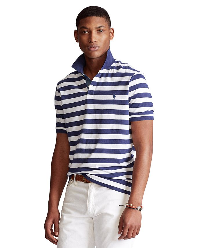 Polo Ralph Lauren Men's Big & Tall Classic-Fit Striped Jersey Polo ...
