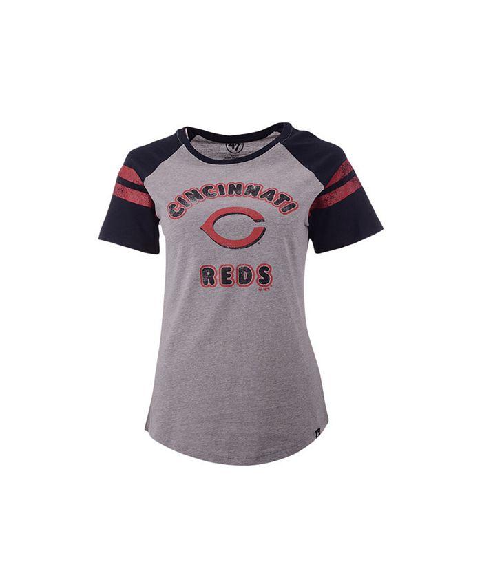 '47 Brand - Women's Cincinnati Reds Fly Out Raglan T-shirt