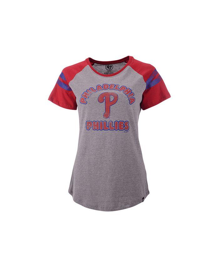 '47 Brand - Philadelphia Phillies Women's Fly Out Raglan T-shirt