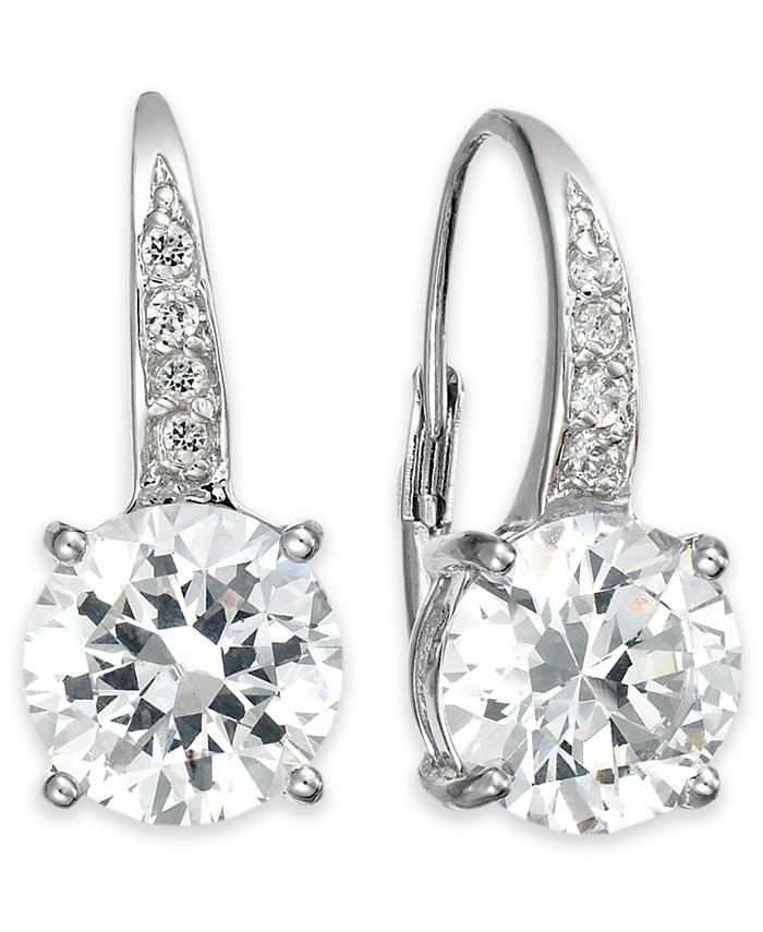 Giani Bernini - Cubic Zirconia Leverback Earrings in 18k Gold over Sterling Silver