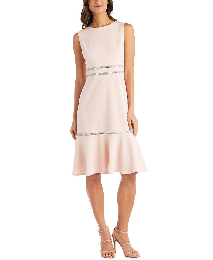 R & M Richards - Rhinestone-Detail Dress