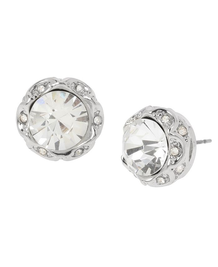 """Jessica Simpson - Stone Stud Earrings, 0.5"""""""