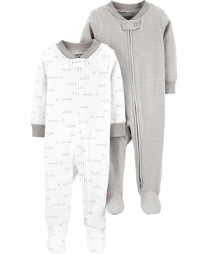 Carter's - Baby Boys or Girls 2-Pc. Footed Cotton Coverall Set