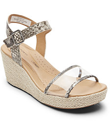 Rockport Women's Lyla Two-Piece Wedge Sandals