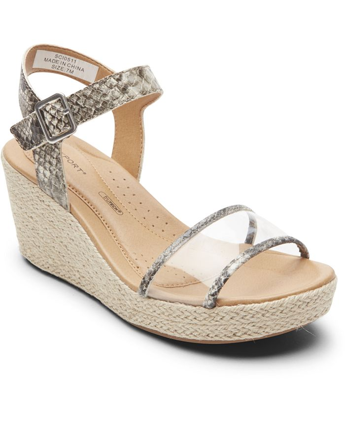 Rockport - Women's Lyla Two-Piece Wedge Sandals