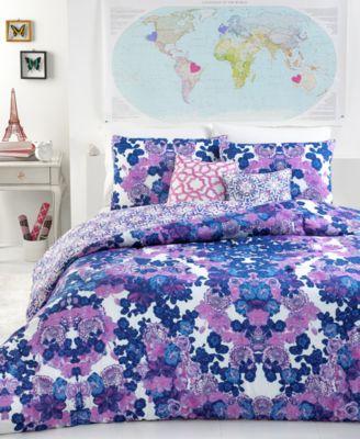 seventeen midnight pink 3 piece full/queen comforter set - kids