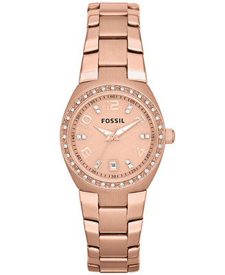 fossil s gold tone stainless steel bracelet