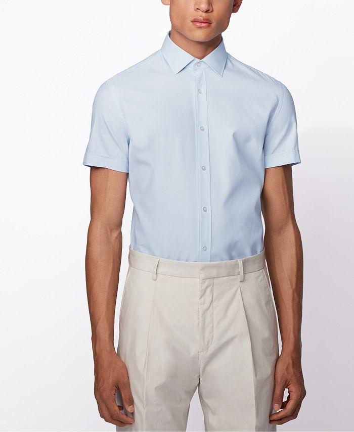 Hugo Boss - Men's Jats Light Pastel Blue Shirt