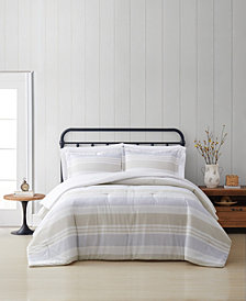 Cottage Classics Spa Stripe Full/Queen 3 Piece Comforter Set