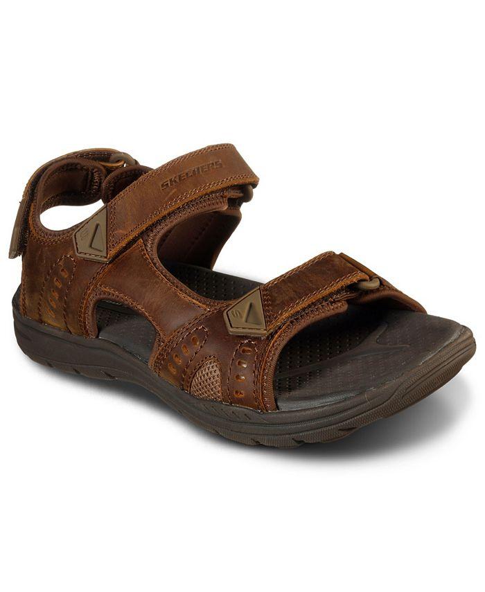 Skechers - Men's Evented Renson Adjustable Strap Sandals from Finish Line