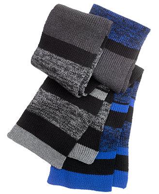 alfani scarf chunky knit striped hats gloves