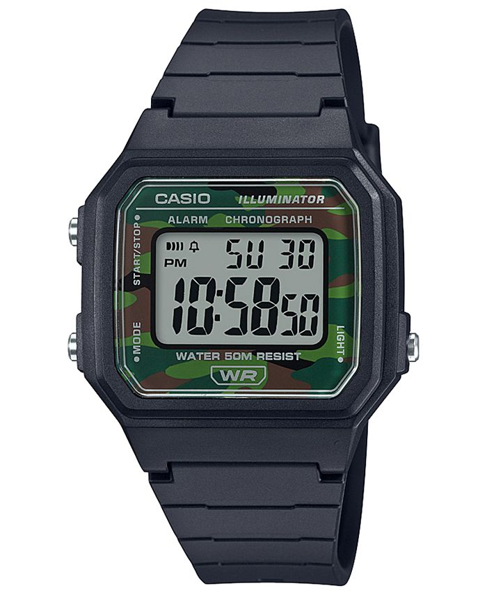 Casio - Men's Chonograph Digital Black Resin Strap Watch 41mm