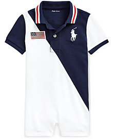 Ralph Lauren Baby Boys Cotton Polo Shortalls