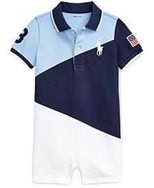 Ralph Lauren Baby Boys Cotton Polo Shortalls