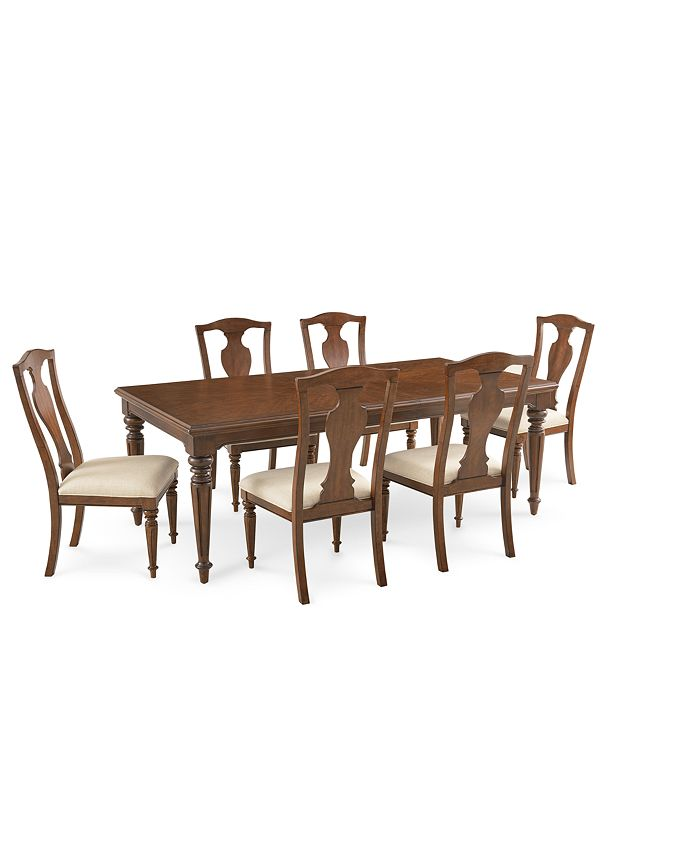 Furniture - Orle Dining , 7 pc Set (Dining Table & 6 Side Chairs)