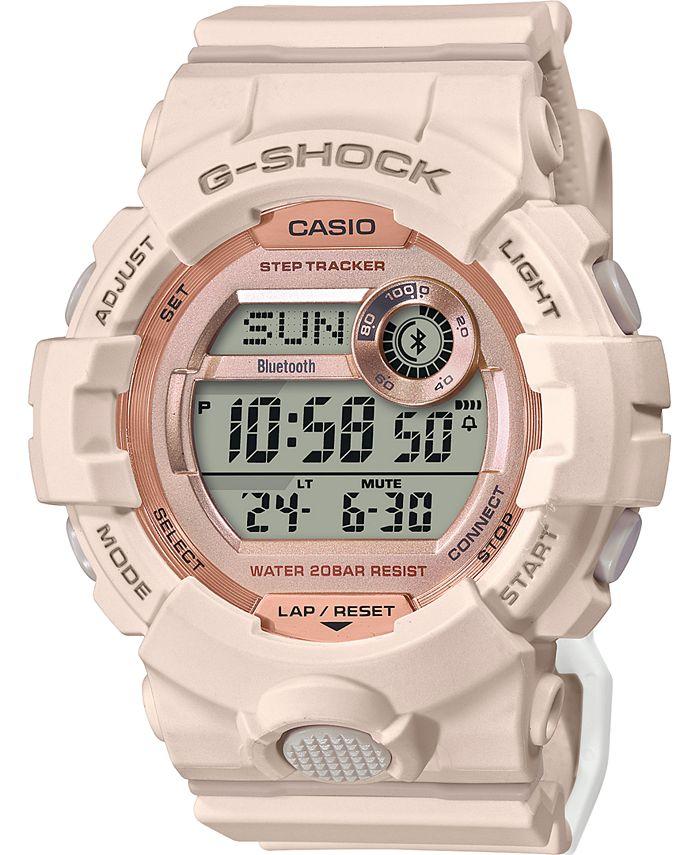 G-Shock - Women's Digital Power Trainer Blush Resin Strap Watch 45.2mm
