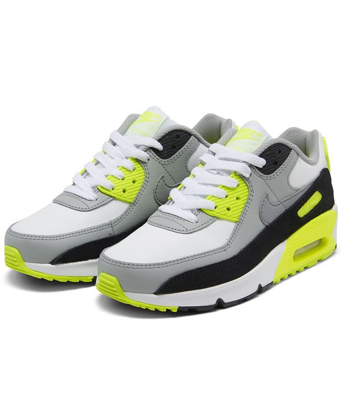 Nike Big Kids Air Max 90 Leather Running Sneakers from Finish Line ...