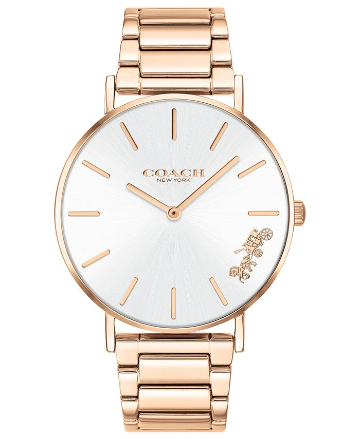 COACH - Women's Perry Rose Gold-Tone Stainless Steel Bracelet Watch 36mm
