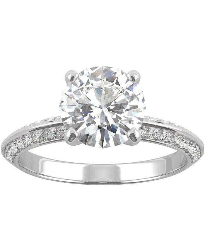 Charles & Colvard - Moissanite Knife-Edge Engagement Ring (2-1/4 ct. t.w. DEW) in 14k White Gold