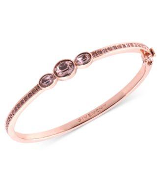 Givenchy Bracelet, Rose Gold,Tone Swarovski Vintage Glass Stone Bangle  Bracelet , A Macy\u0027s