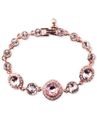Givenchy Bracelet Rose GoldTone Swarovski Vintage Stone Bracelet