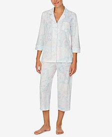 Lauren Ralph Lauren Printed Capri Pajama Set
