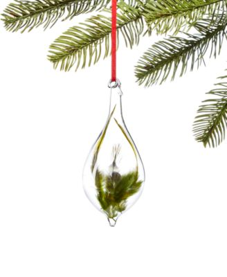 Birds & Boughs Green Feather  Ornament, Created for Macy's