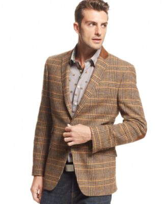 Tallia English Plaid Slim-Fit Blazer - Blazers & Sport Coats - Men ...