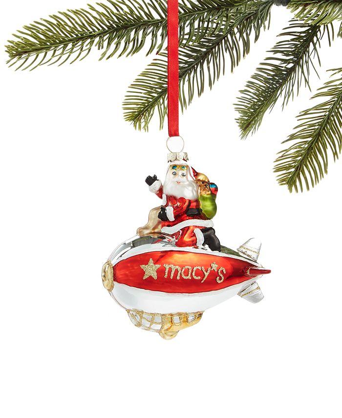 Holiday Lane - Macy's Santa Riding Blimp Ornament