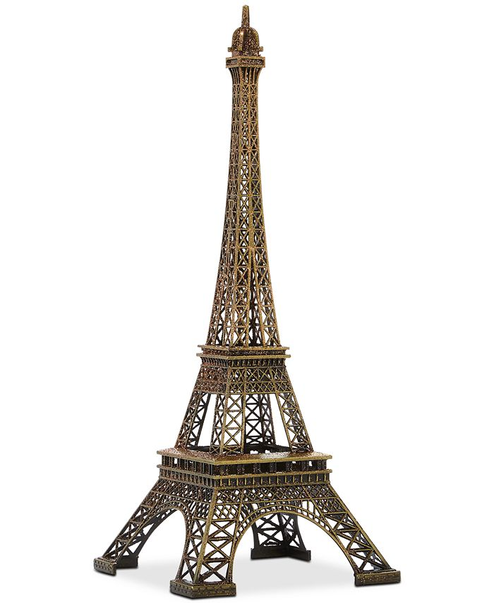 Holiday Lane - Champagne Gold Eiffel Tower