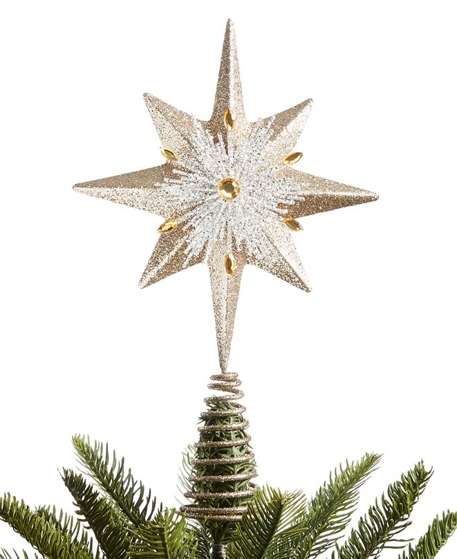 Holiday Lane Shine Bright Snowflake Tree Topper, Created for Macy's,