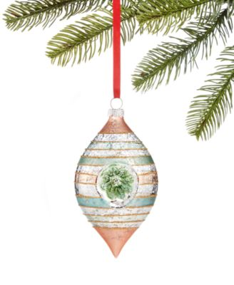 Shimmer & Light Glass Drop Ornament, Created for Macy's