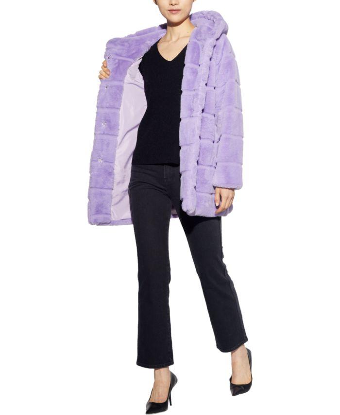 Apparis Jill Hooded Faux-Fur Coat, Created for Macy's & Reviews - Coats - Women - Macy's