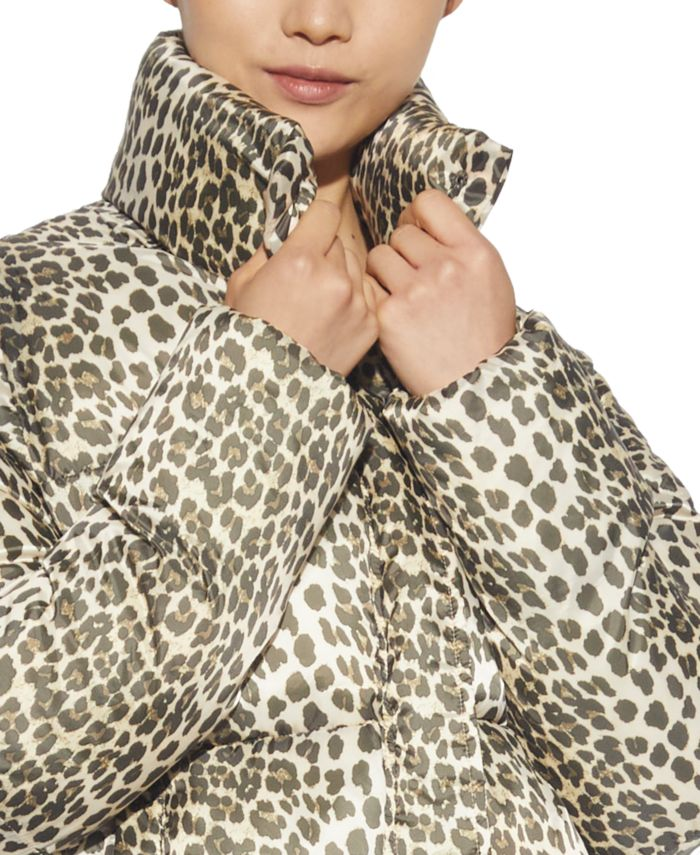 Apparis Jackie Leopard-Print Puffer Coat & Reviews - Coats - Women - Macy's