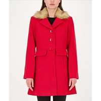 Kate Spade New York Faux-fur Trim Walker Coat