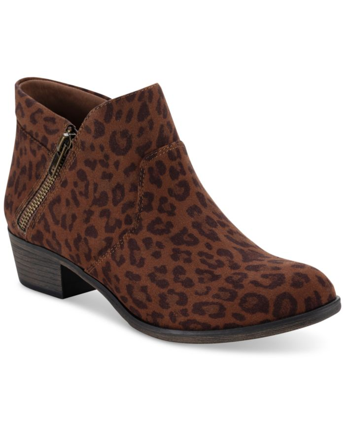 Sun + Stone Abby Double Zip Booties, Created for Macy's & Reviews - Boots - Shoes - Macy's